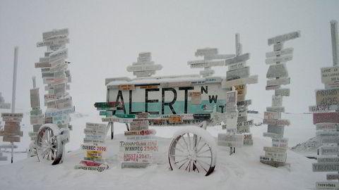 Alert i Canada er kjent for alt annet enn varme. Søndag var det imidlertid 21 varmegrader der.
