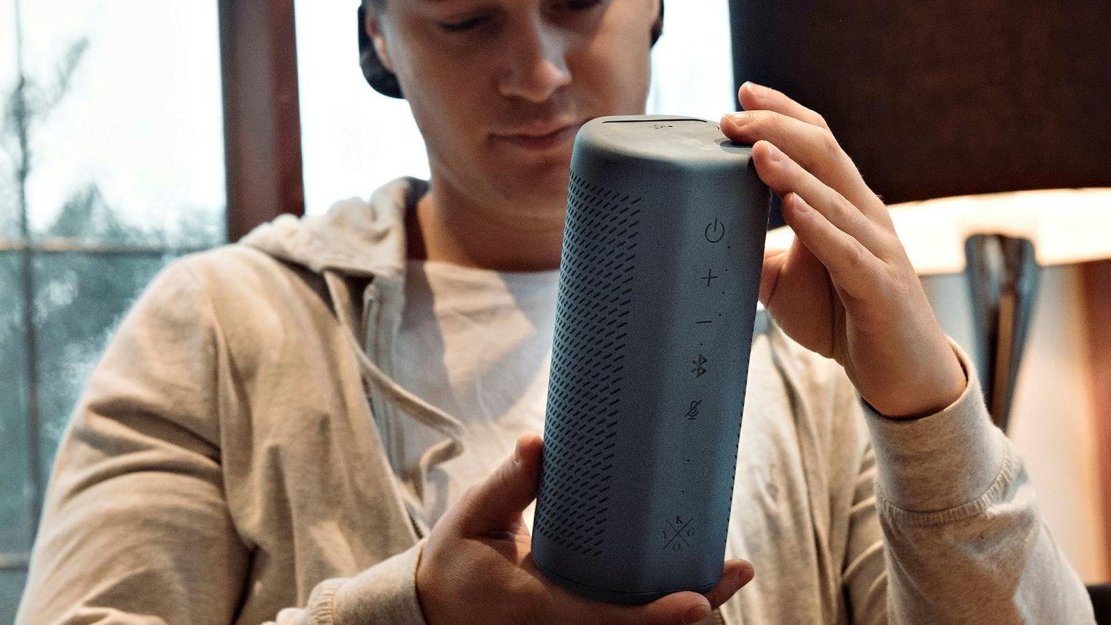 Kygo avduket smarthøyttaleren B9/800 under CES-messen i Las Vegas i januar. Høyttaleren har støtte for den digitale assistenten Google Assistant.