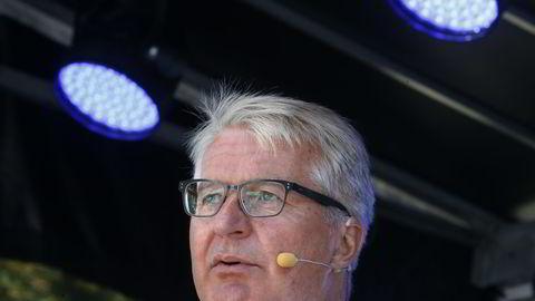 Fabian Stang på Høyres valgbod i Oslo tidligere i år. Foto: Terje Pedersen /