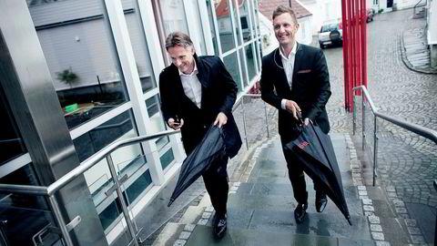 Kjetil Andersen (til høyre) og Alfred Ydstebø mens de ennå var venner. Nå saksøker de hverandre.