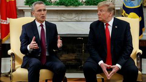 Kina har trolig stått på agendaen i møtet mellom Nato-sjef Jens Stoltenberg og USAs president Donald Trump i Washington.