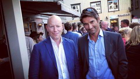 DN-journalistene Tore Gjerstad (til venstre) og Kristian Skard inviterte til «Politisk bar».