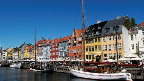 Her fra Nyhavn, København.
