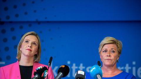 Siv Jensen får med seg Sylvi Listhaug tilbake i regjering. Det er hun svært fornøyd med.