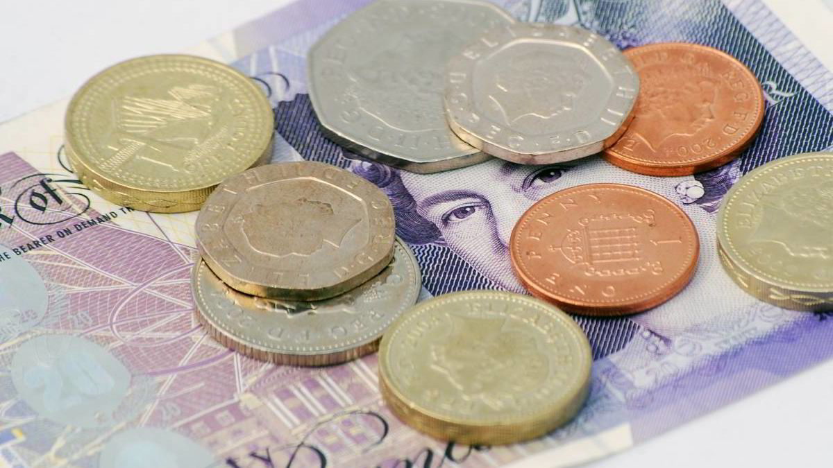 engelsk pund valuta