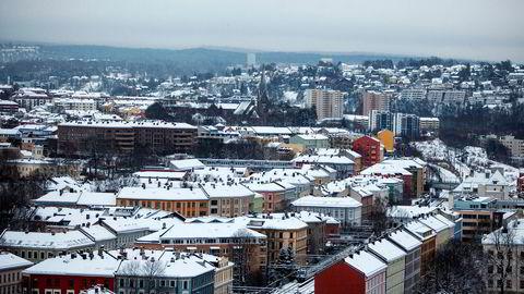 Bygårder og leiligheter på østkanten av Oslo.