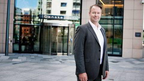 Leder av Danske Bank Norge, Trond F. Mellingsæter ble rørt da kona kuppet scenen og holdt tale ved sølvbryllupsfeiringen. Foto: Mikaela Berg
