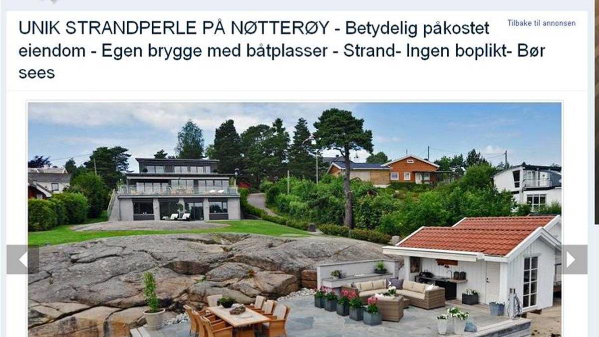 Eiendommen på Duken, Nøtterøy er igjen i markedet. For rundt 25 millioner kroner får man en bygningsmasse med primærrom 344 kvm. og en strandlinje på 27 meter med brygge.