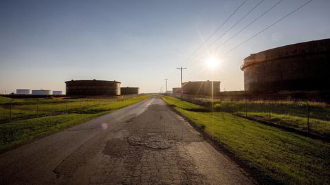 Fra oljeknutepunktet Cushing i Oklahoma i USA. Foto: Ørjan F. Ellingvåg