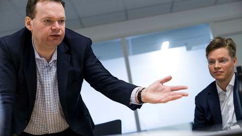 Jon Sigurdsen (til venstre) og Christian Rom i DNB Asset Management forvalter DNBs miljøfond, herunder DNB Miljøinvest og DNB ECO Absolute Return Retail.