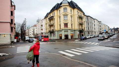 I Oslos dyreste bydel Frogner, her ved Thomas Heftyes gate, er snittprisen på 75.000 per kvadratmeter.
