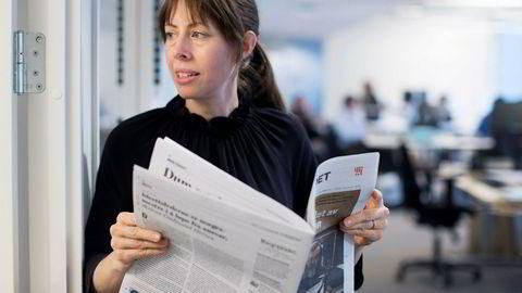 Ansvarlig redaktør i Morgenbladet Anna B. Jenssen. Avisen vil ta stilling til sluttpakkesøknadene torsdag.