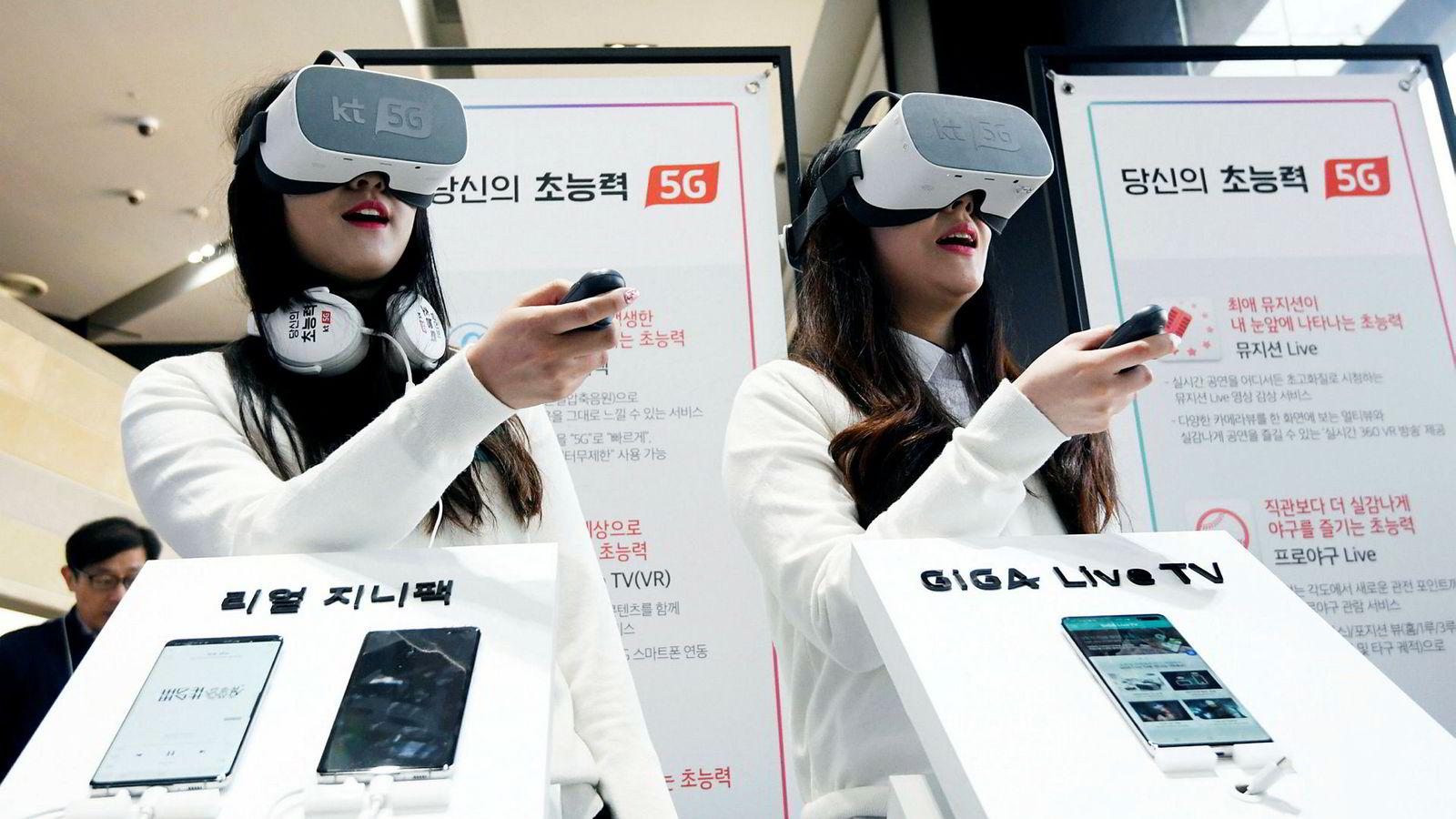 Denne uken gikk startskuddet for femte generasjon mobiltelefontjenester (5G) i Sør-Korea og USA.