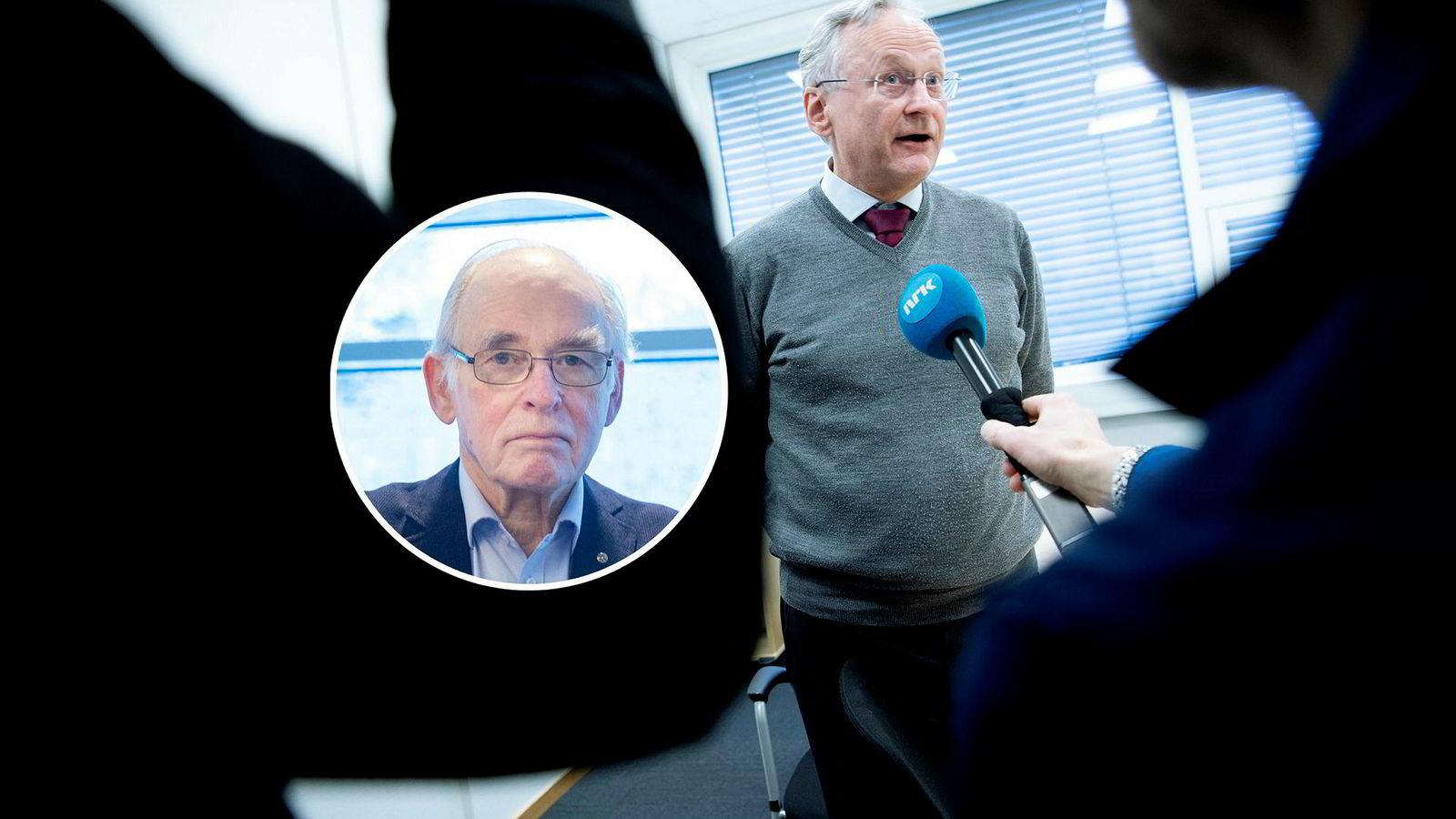 Helse Sør-Østs styreleder Svein Gjedrem får flengende kritikk fra kvalitetssikringsekspert Eilif Holte (innfelt).