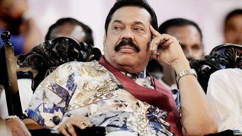 Sri Lankas tidligere president Mahinda Rajapaksa. Foto: Sanka Gayashan, AP/NTB Scanpix