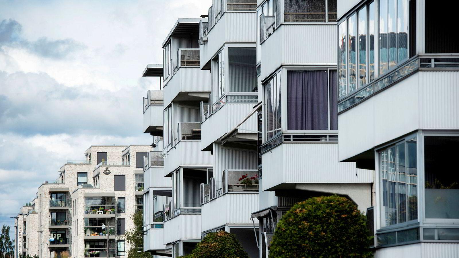 Forbrukerrådet støtter innstramninger på boliglån. Her Obos-leiligheter på Lambertseter i Oslo.