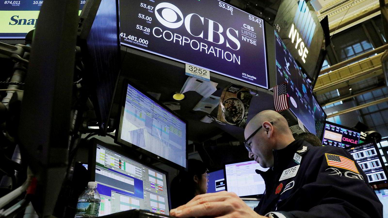 CBS Corporation er notert på New York-børsen. Tirsdag melder selskapet at de slår seg sammen med Viacom.