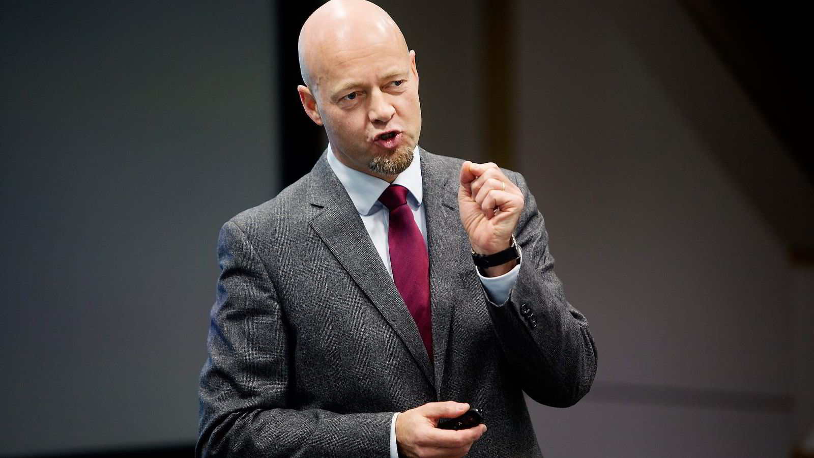 Oljefondets Yngve Slyngstad øker risikoen.                Foto: