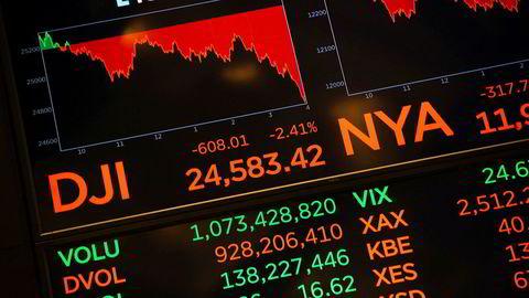 Alle de amerikanske børsindeksene fortsetter i rødt, og trekker Oslo Børs ned.