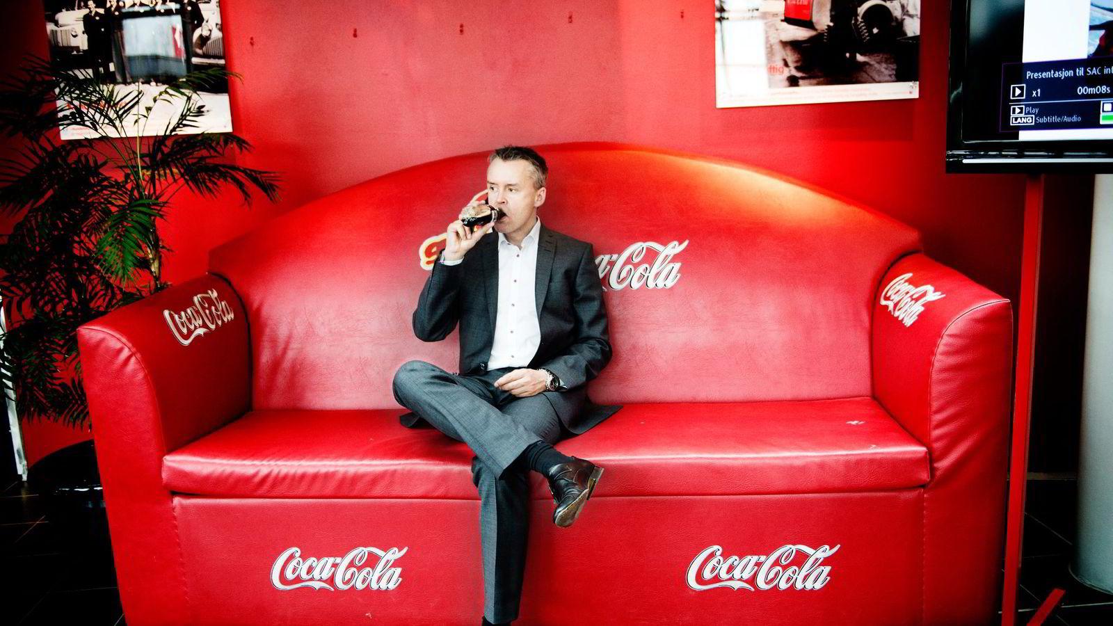 – Originalen står fortsatt sterkt og vil forbli sterk i mange år, sier Stein Rømmerud, toppsjef for Coca-Cola Enterprises. Foto: Hampus Lundgren