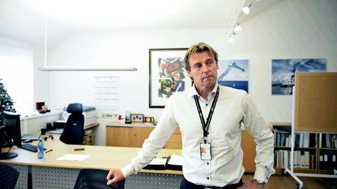Frode Jensen, administrerende direktør i National Oilwell Varco Norway, mener han ser noen lysglimt innimellom etter tre år med bratt nedtur. Foto: Jacob Buchard