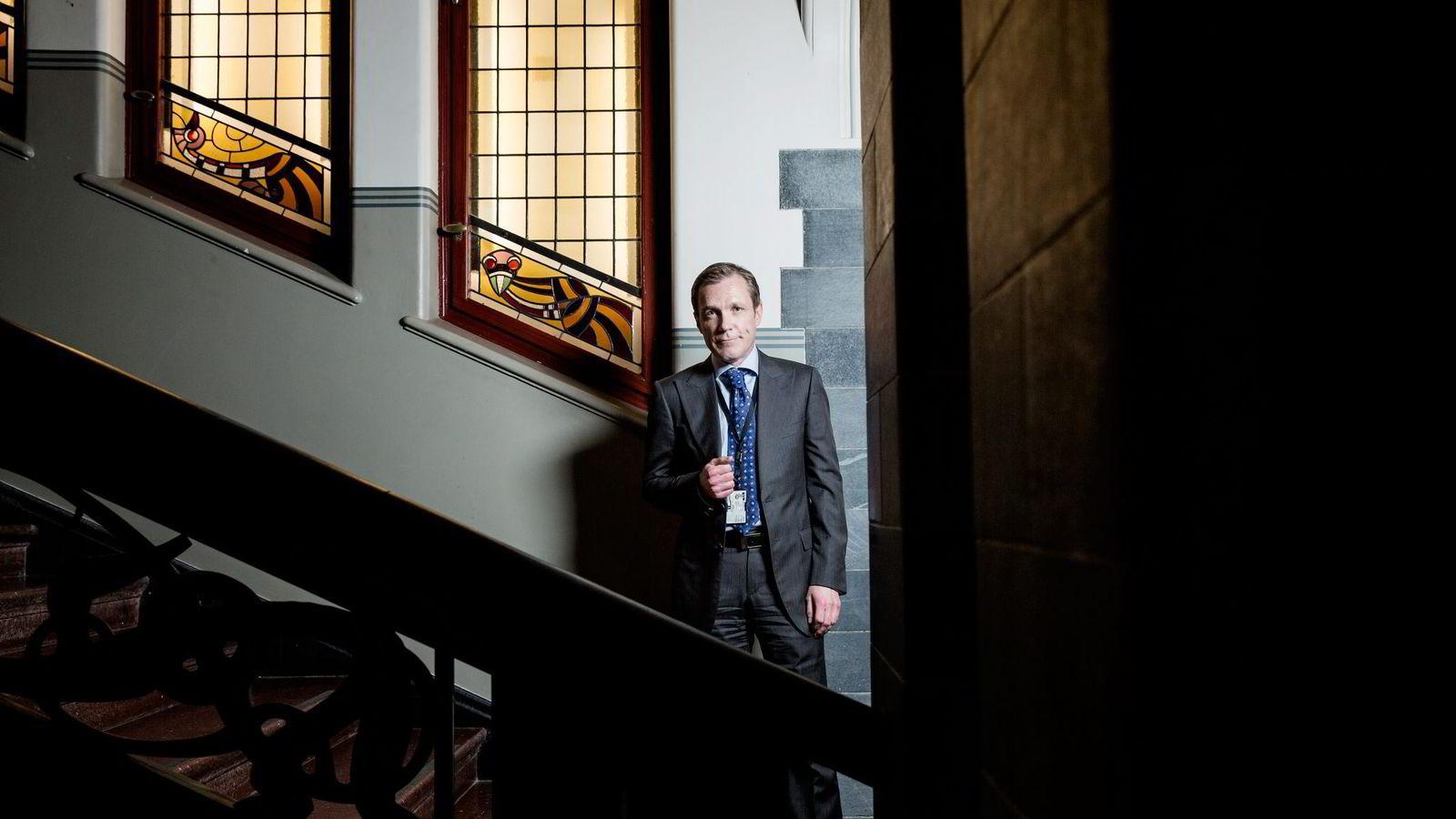 Statssekretær Paal Bjørnestads parti, Frp, var opprinnelig imot å la Oljefondet gå ut av tobakk.                Foto: Fredrik Bjerknes