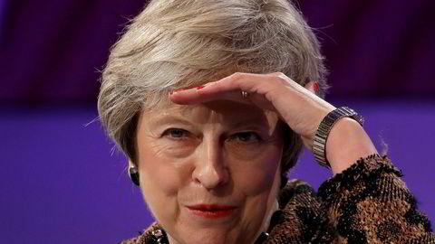 Storbritannias statsminister Theresa May reiste onsdag til Brussel.