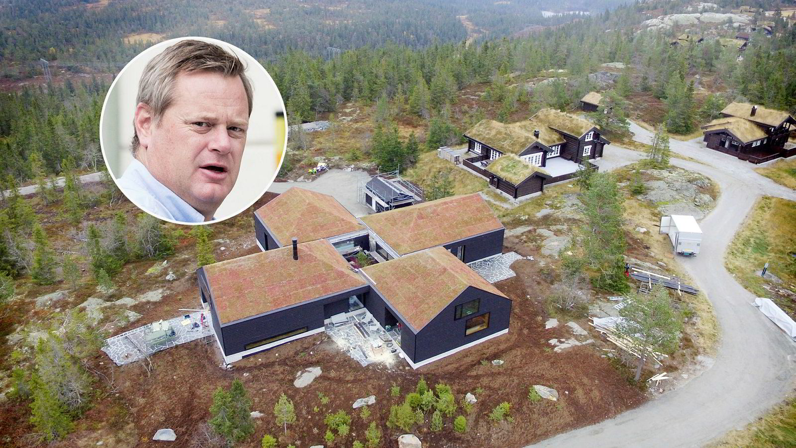 Wikborg Rein Advokatfirma har på vegne av Einar Aas tinglyst urådhetserklæringer over alle eiendommene til Einar Aas, blant annet dette hyttetunet i Nissedal i Telemark.
