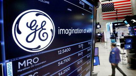 General Electric faller kraftig torsdag.
