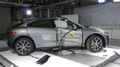Jaguar I-Pace har vært i kollisjonstest og viser seg som en sikker bil.