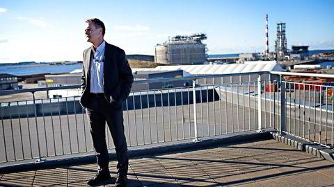 Toppsjef Tor Morten Osmundsen i Skangass vil investere for 1,3 milliarder kroner de neste årene. Foto: Tomas Alf Larsen