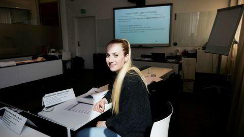 Elise Sæther gjennomførte nylig Reitan Conveniences talentprogram og har nå sin første kjøpmannsjobb i sikte.