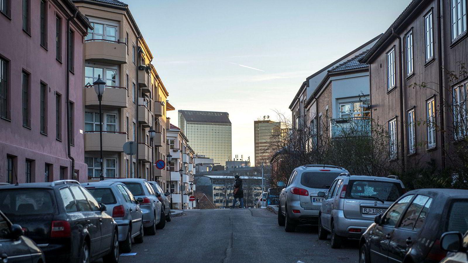 Illustrasjonsfoto, boliger på Grünerløkka i Oslo.