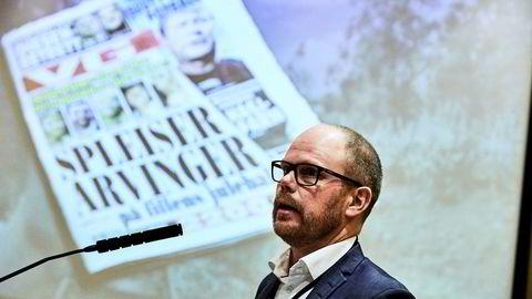 Ansvarlig redaktør Gard Steiro i VG har ikke klart å stoppe papiravisens fall, men kan glede seg over de digitale tallene.