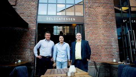 En overetablering av restauranter i Oslo fører til langt tøffere konkurranse forteller styreleder i Concept Restaurants, Jan Ivar Sørensen. Fra venstre: Erik Tronbøl daglig leder i Concept Restaurants, Rodrigo Belda styremedlem, Jan Ivar Sørensen, styreleder. Bildet er fra 2014.