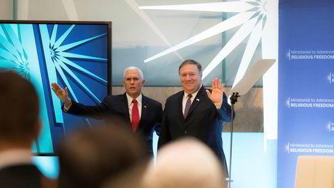 USAs visepresident Mike Pence and USAs utenriksminister Mike Pompeo avviser at det var de som skrev det anonyme innlegget i The New York Times.