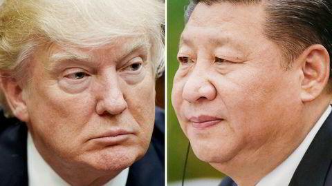 USAs president, Donald Trump (t.v.), og Kinas statsleder, Xi Jinping, stillingskrig kan stikke kjepper i hjulet for veksten i verdensøkonomien.