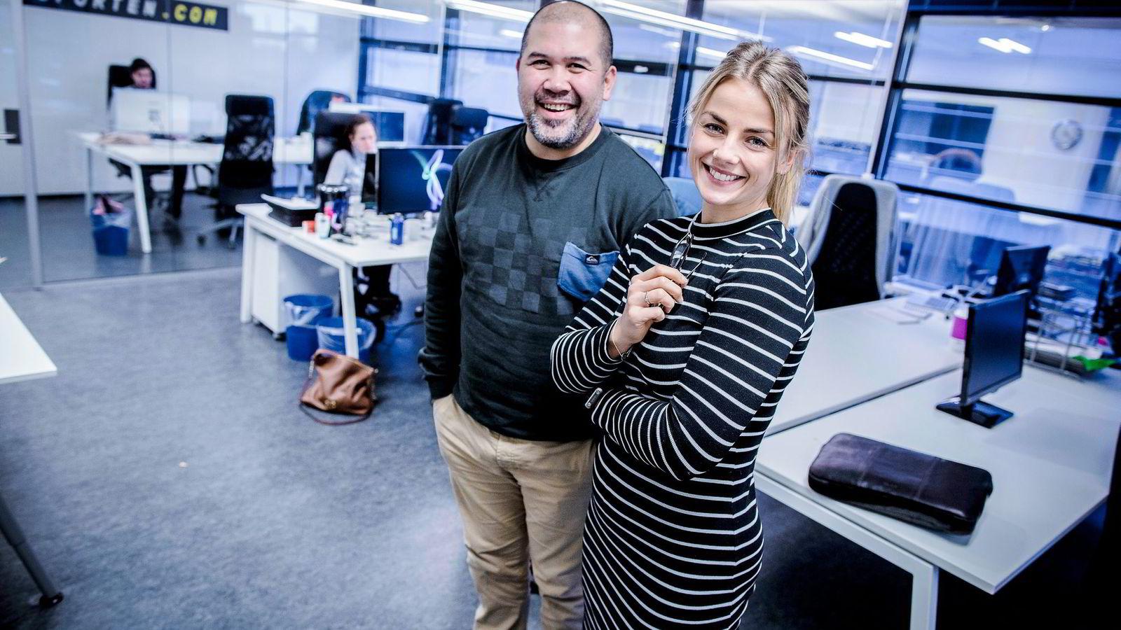 David Garcia (41) styrer det kommersielle og Pia Seeberg (26) skal ha hånd om innholdet i Playblogg. – Målet nå er å nå ut til mennesker som per i dag ikke leser blogger, sier Seeberg.