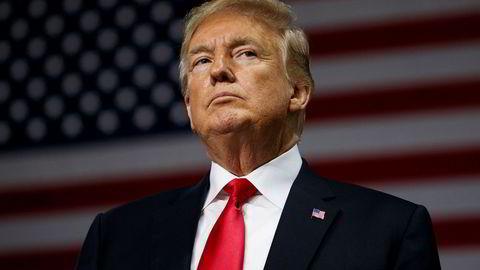 President Donald Trump under et folkemøte i Tampa i Florida tirsdag.