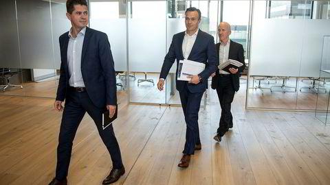 Jone Skaara, Jan Erik Rugland og Atle Eide er tre av partnerne i det stavangerbaserte oppkjøpsfondet Hitecvision. Trioen er ansvarlig for oljeserviceporteføljen, som utgjør 14 prosent av fondets investerte kapital.