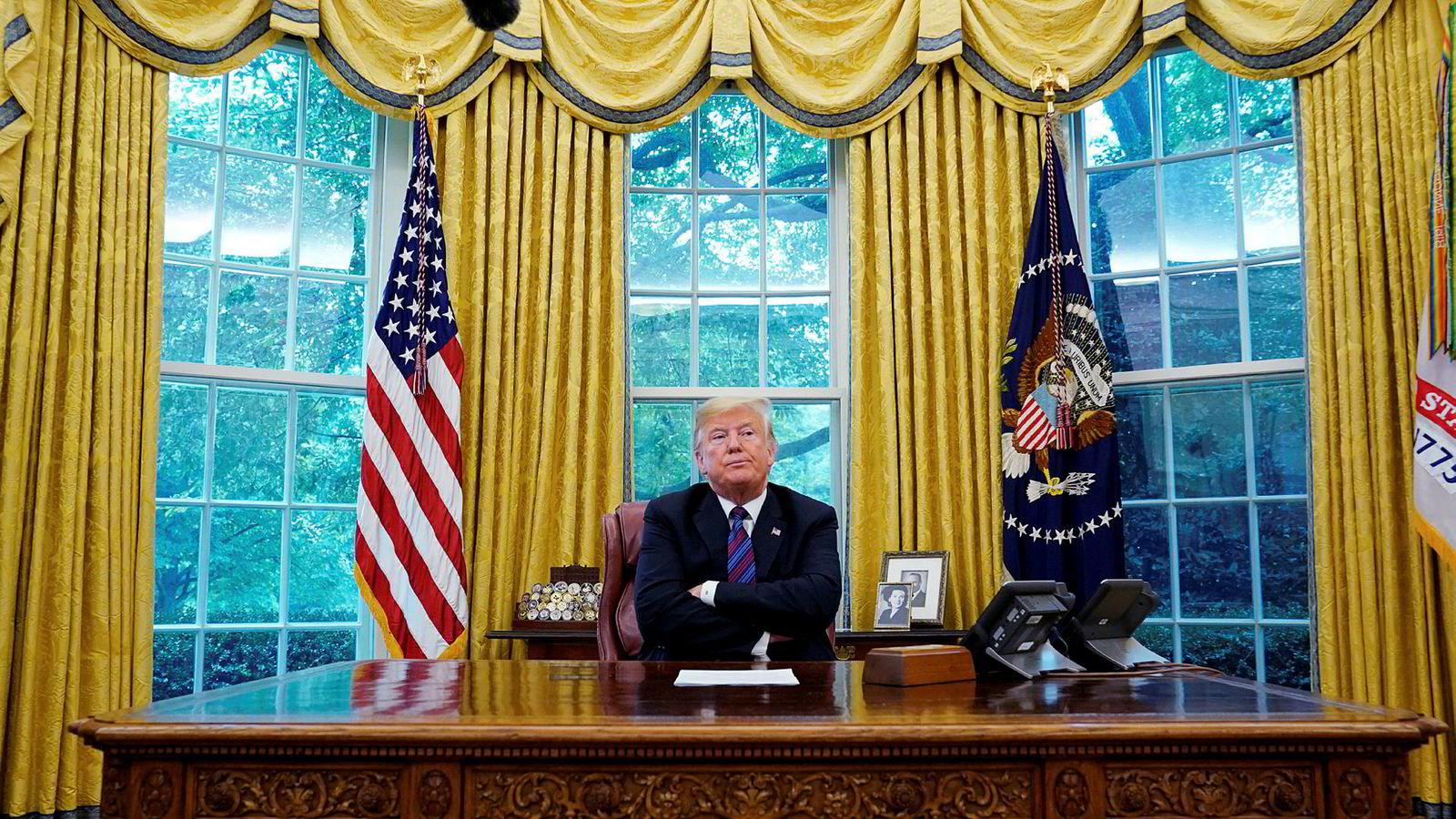 President Donald Trump vil nok aldri tenke at han trenger terapi. Og det er like greit. Han ville nok vært terapiresistent, skriver Tormod Huseby.