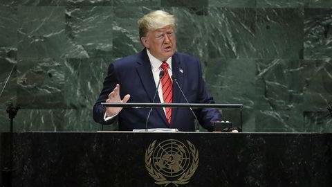 New York, 24. september: Den amerikanske presidenten var andre taler som fikk snakke for forsamlingen, tirsdag ettermiddag norsk tid.