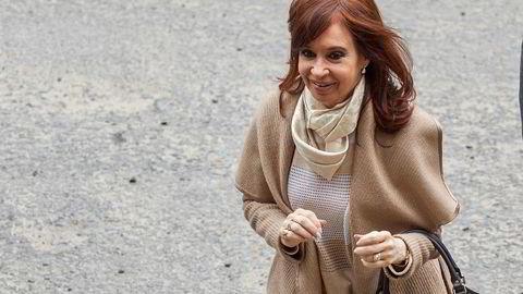 Argentinas tidligere president, Cristina Fernandez de Kirchner ankommer her domstolen i Buenos Aires, Argentina 3. september.