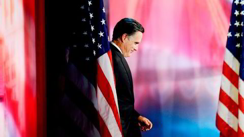 Mitt Romney jobber nå hardt for å hindre at partikamerat Donald Trump vinner presidentkandidatkampen. Don Emmert/ AFP/NTB Scanpix