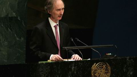 FNs spesialutsending for Syria, Geir O. Pedersen bes om å endre Syria-strategi.