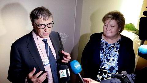 Under World Economic Forum i Davos møttes Bill Gates og statsminister Erna Solberg i forbindelse med lansering av en ny koalisjon for bekjempelse av epidemier.