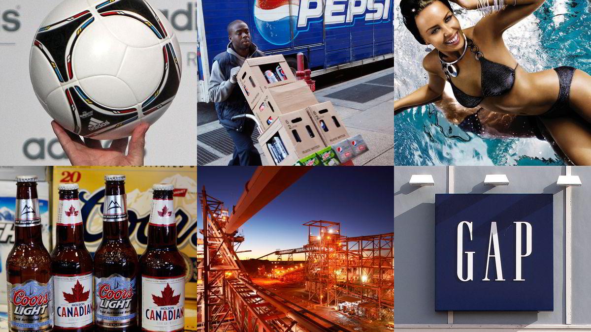 Adidas, PepsiCo, Hennes & Mauritz, SAB Miller, BHP Billiton og Gap er blant selskapene som får godkjent i oljefondets rapporteringstest.