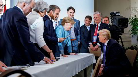 USAs vestlige allierte vender seg mot Donald Trump. Foto: Adam Scotti/Prime Minister's Office Canada/Reuters/NTB Scanpix