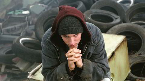 Eminem i «8 Mile». Nå har artistens utgiver saksøkt Spotify med påstand om brudd på en ny lov om rettigheter for å strømme musikk.