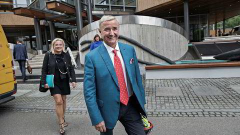 Christen Sveaas etter ekstraordinær generalforsamling i Norske Skog den 24. august der han tok over som styreleder. Foto: Aleksander Nordahl